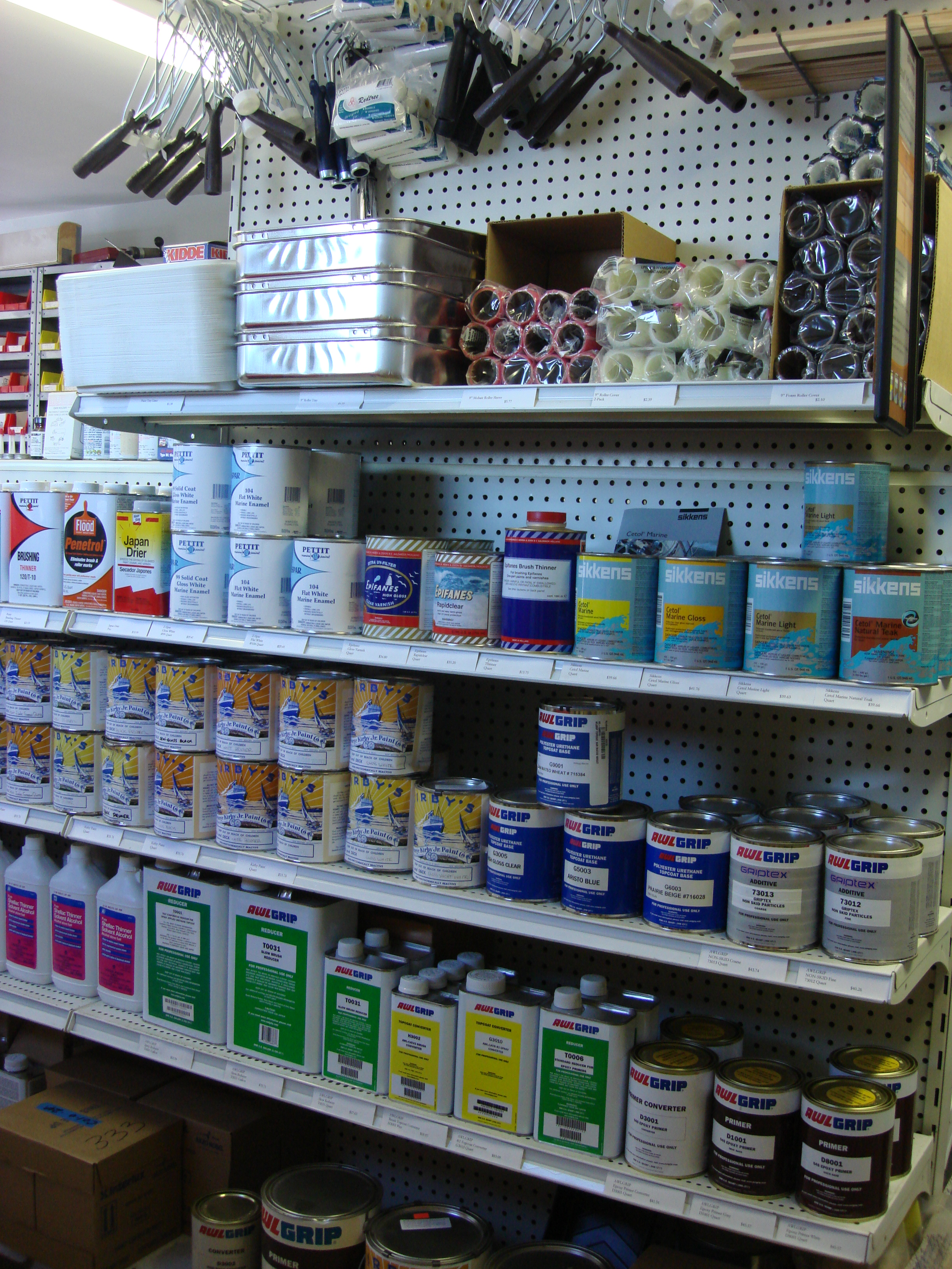 Sikkens & Kirby Paints and paint supplies.